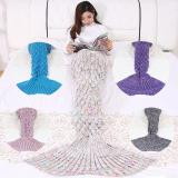 Colorful Mermaid Blanket Handmade Knitted Sleeping Wrap Sofa Blanket Kids Adult Crocheted Bag Bedding Throws Knitted Blankets