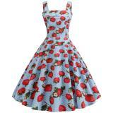 Women Vintage Dress 2020 Robe Summer 1950s 60s Polka Dot Party Dresses Casual Vestidos Elegant Rockabilly Pin Up Sundress