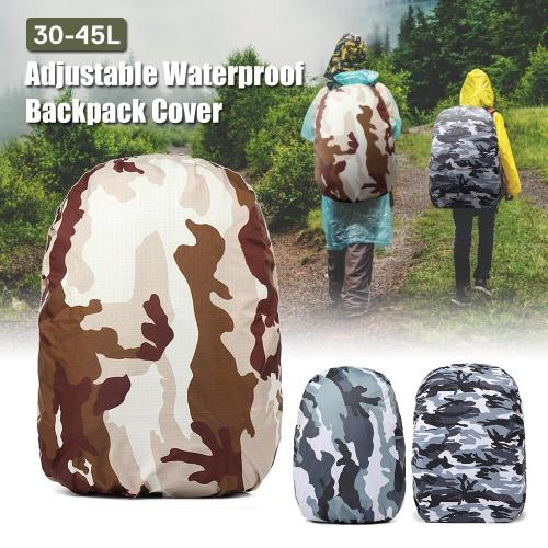 30-45L Adjustable Rain Cover Waterproof Dustproof Backpack Portable Ultralight Shoulder Protect Outdoor tools Hiking Traveling