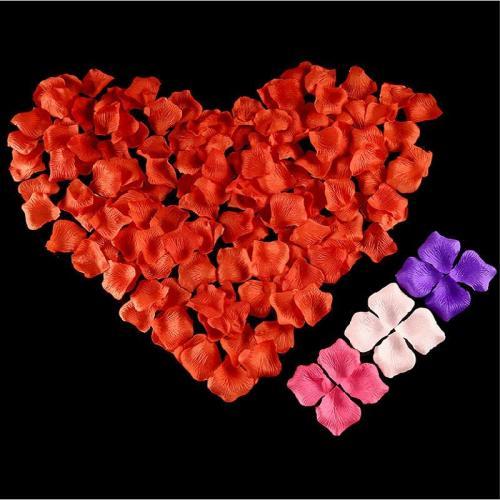 100pcs/lot 5*5cm Artificial Flowers Simulation Rose Petals Decorations Wedding Marriage Room Flower