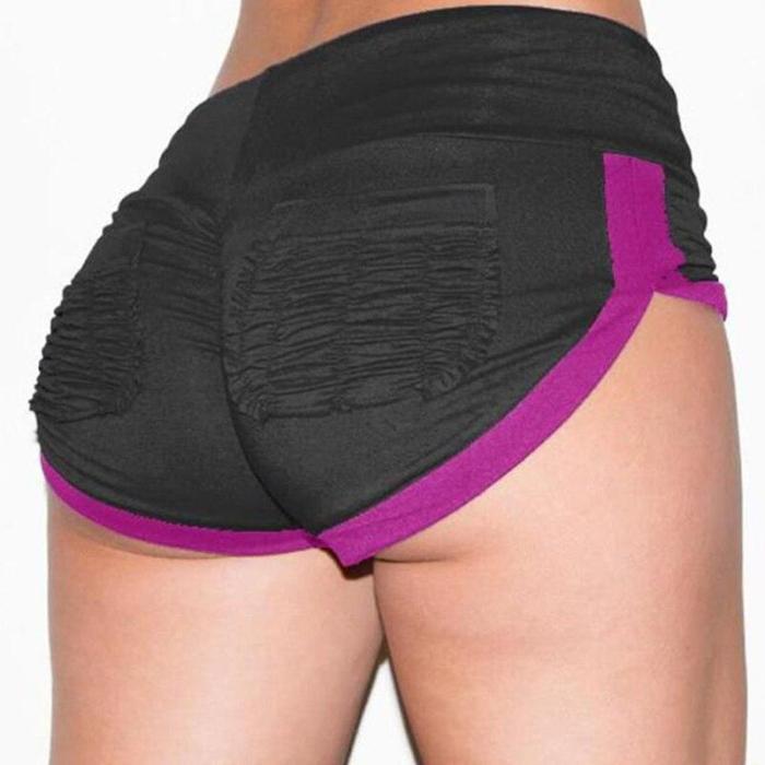 Women Yoga Shorts Soft Elastic Yoga Shorts Gym Fitness Summer Hit Color Women Yoga Shorts Push Hips Sexy  Gym Fitness Shorts