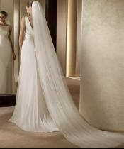 Elegant Bridal Veil With Cut Edge Cathedral Length Two Layers Tulle White/Ivory Hotselling Wedding Veils
