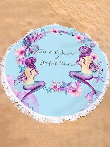 Popular Printed Tassels Round Beach Mat Yoga Mat