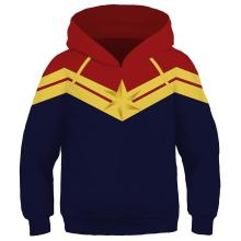 Kids Captain Marvel Jacket Cosplay Costume Fashion Hooded Sweatshirt