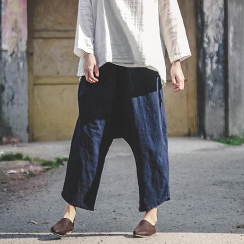 Zen Cotton Linen Pants With Pockets