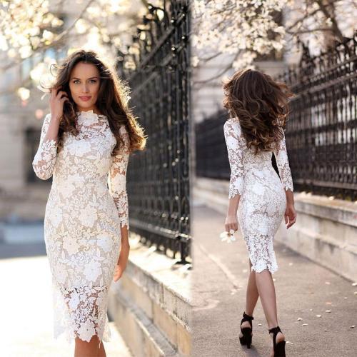 Gorgeous White Lace Bodycon Dress