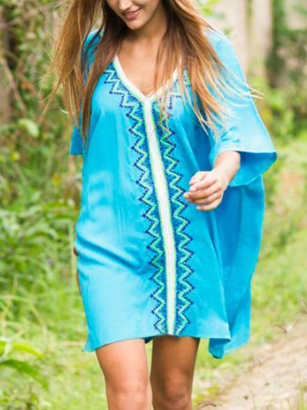 V-neck Plus Size Cover-up
