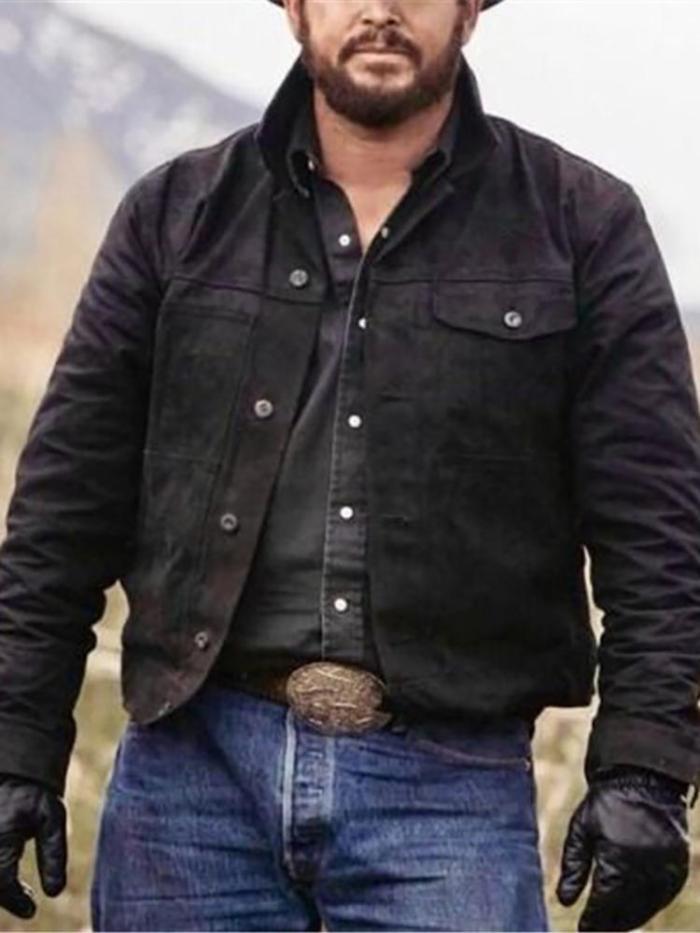 Men's Single Breasted Long Sleeve Jacket