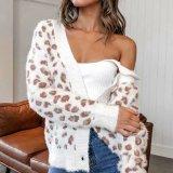 Leopard V Neck Knit Cardigan