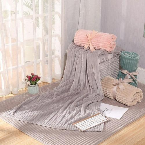 Pink Blanket Summer Air Conditioning Blanket Children Nap Quilt Travel Double Cover Blanket Flannel Blanket Hand Wash Home