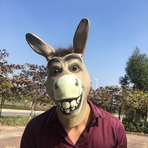 Halloween Masquerade Party Donkey Mask