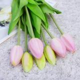 7Pcs/Pack Tulips Artificial Flowers For Home Wedding Decoration Fake Bride Hand Flowers Real Touch Soft Silicone Tulip flores