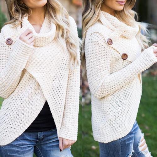 Fashion High Collar Long Sleeve Sweater
