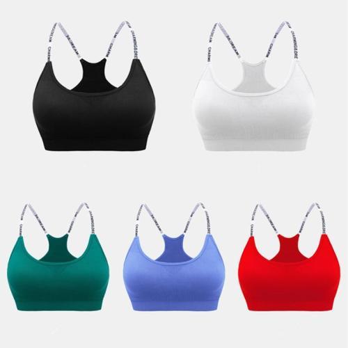 EBUYTIDE Sports Bras Push Up Women Underwear Fitness Running Yoga Bra Ladies Letters Sport Tops Jogging Gym Women Sportswear Tops Bra