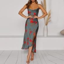 Fashion suspender temperament pajamas one-piece dress