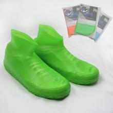 1 Pair Silicone Slip-resistant Rubber Rain Boot Overshoes Reusable Latex Waterproof Rain Shoes Covers