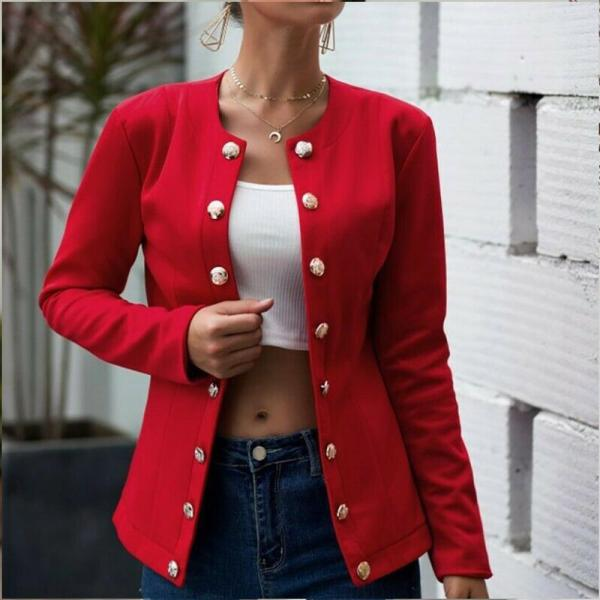 Fashion Simple Double Breasted Blazer Suit Women 2020 Autumn Casual Plus Size Long Sleeve Solid Elegant Slim Office Work Coat