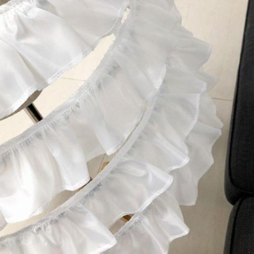 Elegant 3 Hoops Women Short Petticoat Lolita Petticoat Ballet Cosplay Petticoat Crinoline Underskirt Ruffles