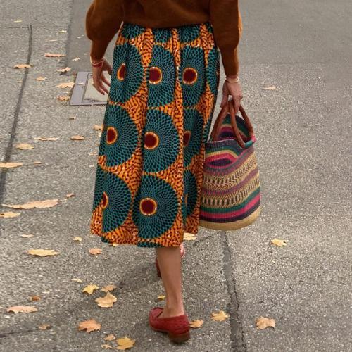 Women's Vintage European Print Skirt RY58