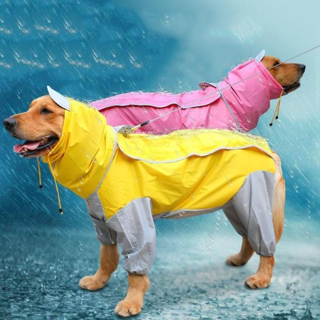 Large Dog Raincoat Waterproof Clothing For Big Dog Clothes Dog Rain Jacket Jumpsuit Samoyed Labrador Golden Retriever Husky Coat