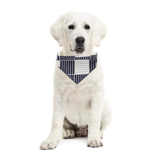 Printed Pet Scarf Bandana Puppy Bibs Scarf Collar Cat Dog Bandana Cotton Washable Bandana For Dogs Grooming Accessories