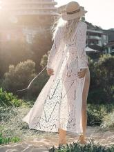 Hollow Embroidered Lace-up Cover-up Swimwear