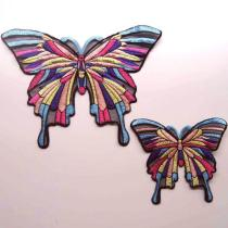 Large Butterfly Embroidered Patches for Clothing Big Embroidery Patch Applique Badge Stickers for Clothes DIY Sewing Accessories