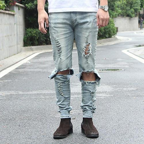 Casual Slim Stretch Washed Jeans