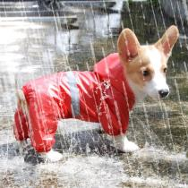 Pet Dog Waterproof Raincoat Jumpsuit Reflective Rain Coat Breathable Mesh Dog Outdoor Clothes Jacket for Small Dog Pet Supplies