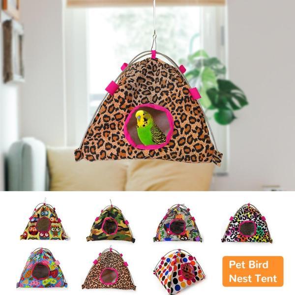 Pet Bird Nest Tent Parrot Hamster Hammock Cage Hut Hanging Bed House Small Pets Sleeping Bag