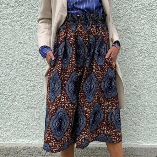Women's Casual Abstract Print Skirt RY58