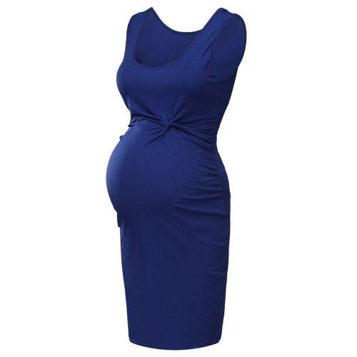 EBUYTIDE Fashion Women Pregnant Maternity Nursing Solid Breastfeeding Summer Daily Sleeveless Dress