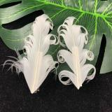 2 pcs Ins Super Fairy White Feather Hair Clip Headdress Wedding Daily Photo Personality Sweet Feather Barrettes Hair Accessories