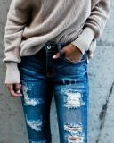 Fashion Ripped Skinny   Jeans