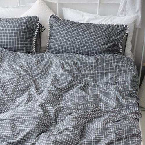 Cotton Reactive Printing Pillowcase Plaid