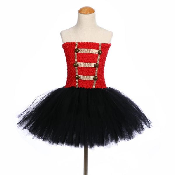Girls Royal Honour Guard Tutu Dress with Headband Fancy Cosplay Tutu Dress Tulle Costume Outfit
