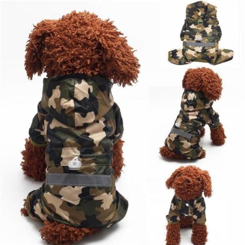 Dog Rain Coat Clothes Puppy Casual Raincoats Waterproof Coat Costumes XS-XXL 4 color Pet Supplies for puppy dog clothes