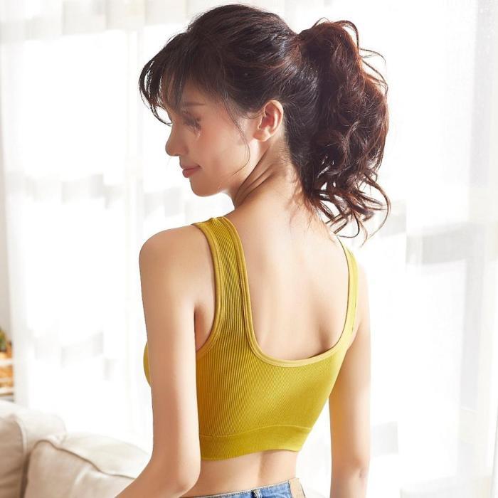 EBUYTIDE Woman Sports Bra Push Up Active Wear Tops For Women Gym Brassiere Bandage Sports Bra Yoga Fitness Crop Tops Women Push Up Bra