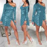 Round Neck And Fashion Sexy Mini Dress