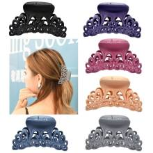 New Arrival Hairpins For Women Scrub Plastic Hair Claw Clips Hollow Out Carving Crab Hearwear Hair Large Size Hair Clamps