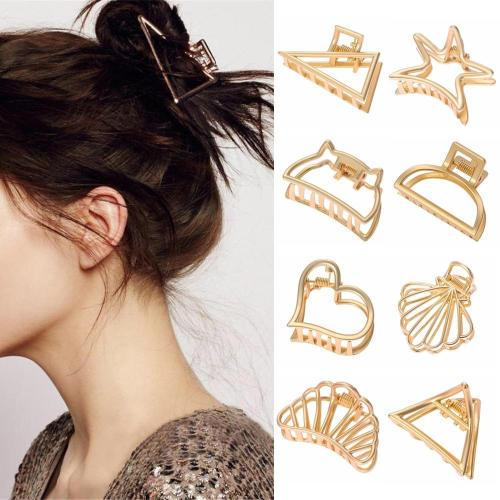 11 Styles Geometric Hair Claw For Women Girls Clamps Hair Crab Metal Gold Hair Clip Claw Accessories Hairpins Ornament 2020