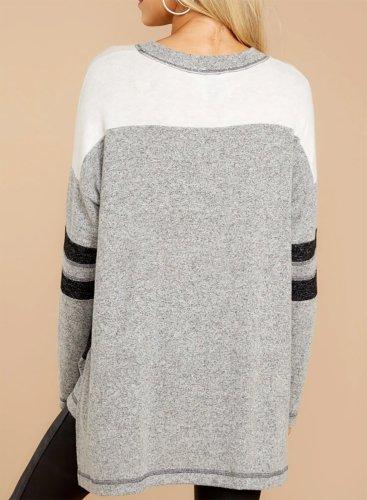 Color Block Loose Fit Sweatshirt
