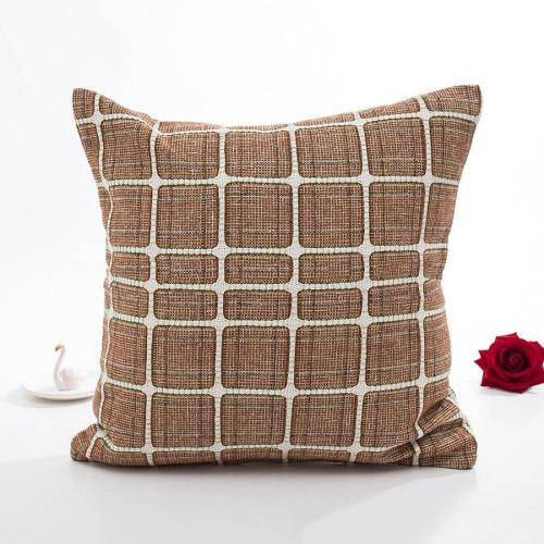 Linen Plaid Pillowcase