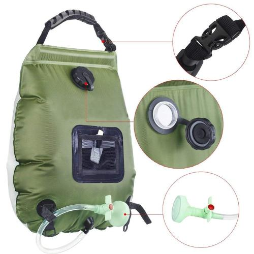 Solar Shower Bag Camping Beach Swimming Heating Bathing Bag Portable Hot Water Supply Sun Energy Hydration Backpack