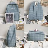 Student Women Cute Backpack Plaid Cotton Fabric Female Fashion School Bag Girl Luxury Book Kawaii Backpack Harajuku New Lady Bag