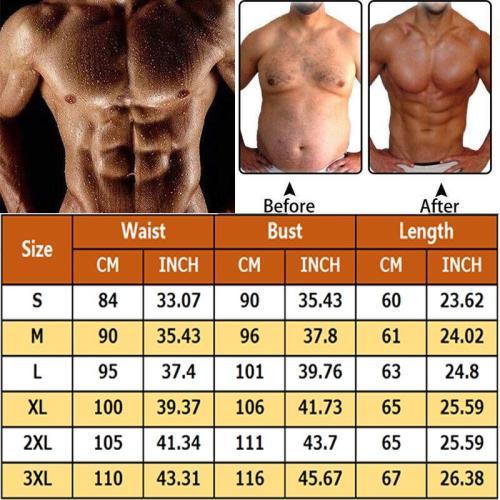 Men Waist Trainer Vest for Weightloss Hot Neoprene Corset Fat Burning Tummy Control Body Belly Shaper Zipper Slimming Shapewear