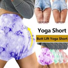 Summer Sexy Tie Dye Short Leggings Butt Lifting Yoga Shorts Ladies Running Short Fitness Clothes Jogging Women Gym Sport Short