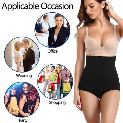 High Waist Shaping Panties Women Breathable Body Shaper Slimming Tummy Underwear panty with Silicone butt lifter waist trainer
