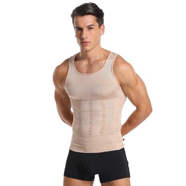 Men Body Shapers Tight Skinny Sleeveless Shirt Fitness Waist Trainer Elastic Beauty Abdomen Tank Tops Slimming Boobs Gym Vest