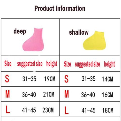 Waterproof Non-slip Rain Boots Reusable Silicone Shoe Cover outdoor Travel Camping Hiking Fshing Righ Tube Wear Shoe Cover
